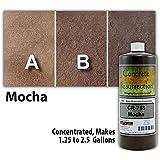 Concrete Stain, Mocha Brown, Concentrate 32 Oz. Just Add Water, User & Eco-Friendly Semi-Transparent Professional Grade Cement Stain, Concrete Resurrection Brand