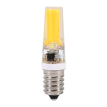 Bombillas LED E14 Regulable 220V Equivalente a Lámparas Halógenas COB LED perlas Retro lámpara de inicio Foco lámpara de luz Bombilla(Warm White): ...