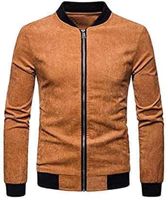 WAWAYA Men Casual Mandarin Collar Zip Front Plus Size