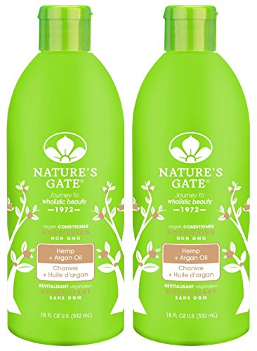 Nature's Gate Hemp Conditioner for Dry or Frizzy Hair, 18-Ounce Bottles (Pack of 2) (Hair Conditioner Hemp Moisturizing)