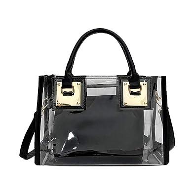 New 2in1 Set Women/'s Fashion Top-Handle Shoulder Handbag /& Small Messenger Bag