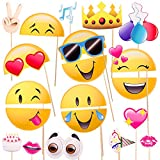 Toys : Emoji-Icon Smiley Face Photo Booth Prop Party Kit - 20 Pack