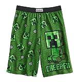 Minecraft. Boys Creeper Sleep Shorts (Green, 14-16)