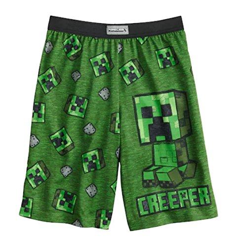 Minecraft. Boys Creeper Sleep Shorts (Green, 14-16) by Minecraft.