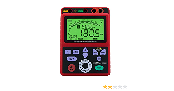 LIMEI-ZEN Digital high voltage insulation resistance tester 5000V shake table electronic table 0.0-99.9G ohm resistor AR3127 Resistance Tester