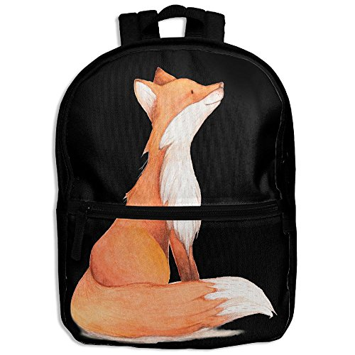 Fox Painting Children Backpack School Daypack Oxford Bag Travel Sports Book Bag (Fox News The Five Halloween Costumes)