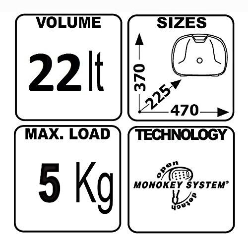 Borse laterali rigide Honda Transalp XL 700 V 08-13 Givi Monokey E22N nero 22 litri