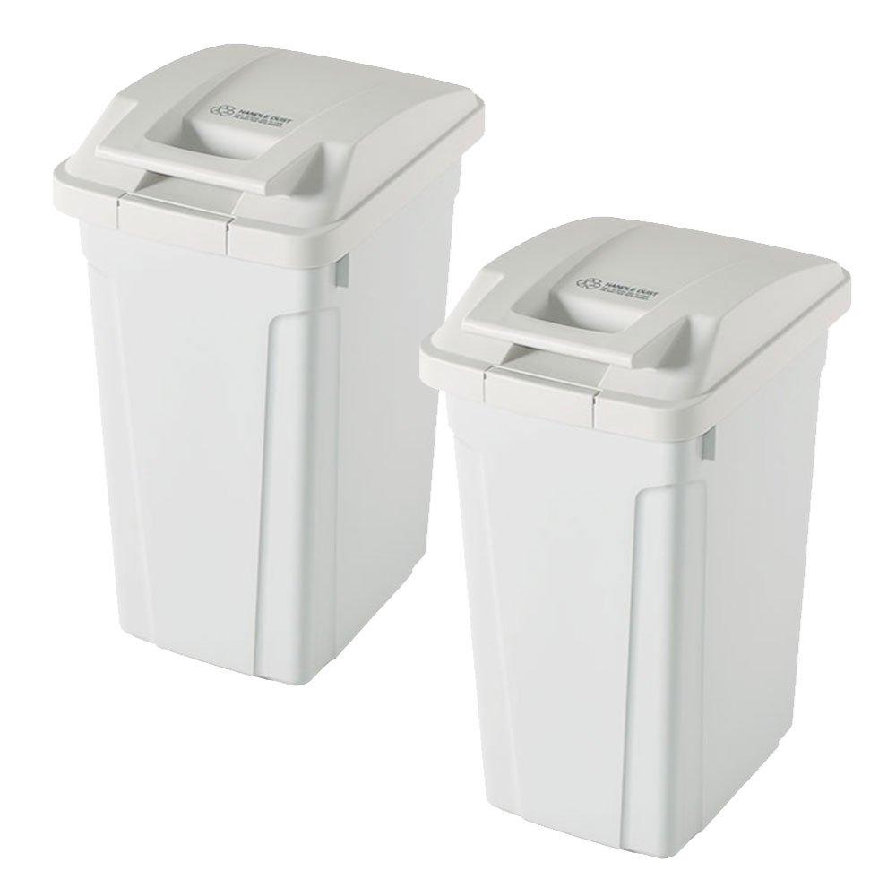 ASVEL SP ハンドル付ダストボックス 35L 2個セット ゴミ箱 ごみ箱 ダストボックス おしゃれ ふた付き アスベル (ホワイト×ホワイト) B0747N1XHN ホワイト×ホワイト ホワイト×ホワイト