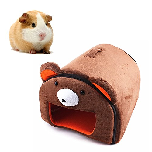 Sleeper Ferret (Mkono Hamster Guinea Pig Bed Small Animal Cage Supplies House Hideout for Rat Hedgehog Ferret Chinchilla, Bear)