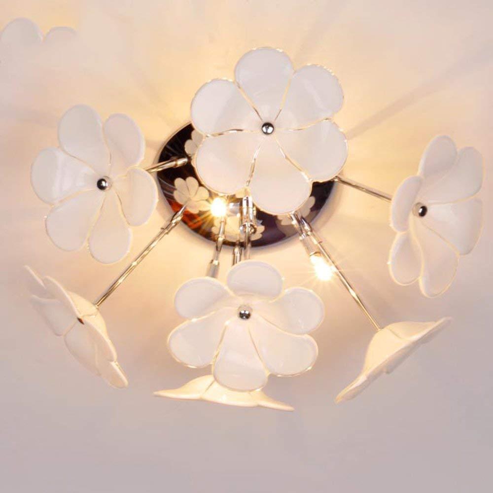 FuweiEncore Deckenleuchte-LED Deckenleuchte-LED Deckenleuchte-LED GlasBlaumen Einfache Moderne Wohnzimmer Schlafzimmer Kreative Eingang Gang Energieeinsparung (Farbe   26cm) 23579f