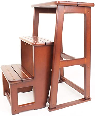 QQXX Taburete de Escalera de Madera de 3 peldaños, Escalera Plegable Reposapiés Muebles de Cama Antideslizantes para niños Escalera de Seguridad para Herramientas de Cocina, 402460.5cm (Color: A): Amazon.es: Hogar