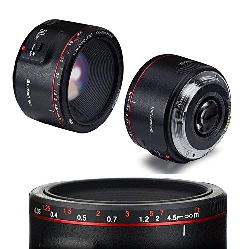 Nueva Versión 2018 Yongnuo YN 50 mm F 1.8 II AF MF Prime Fixed Lens para Canon 80D camera lens