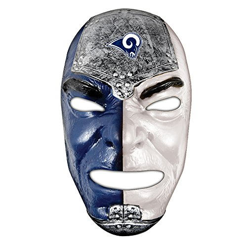 Franklin Sports Los Angeles Rams Team Fan Face Mask - PVC Mask with Team Logos & Colors - NFL Official Licensed -