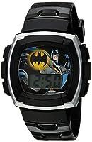 DC Comics Boy's Quartz Plastic Casual Watch, Color:Black (Model: BAT4120)