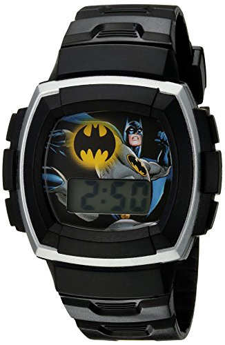 DC Comics Boy's Quartz Plastic Casual Watch, Color:Black (Model: BAT4120)