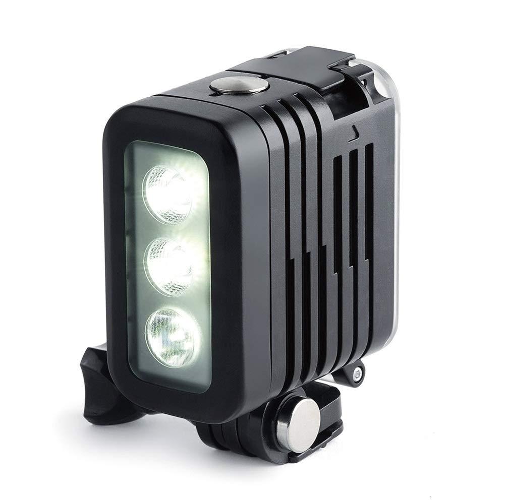 防水50m水中ダイビングLEDライトスポットランプ AHDBT-401デュアルバッテリー付き GoPro Hero 3+ 4 5 6 7アクションまたはデジタル一眼レフカメラ用   B07M69KJJJ