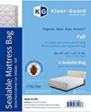 Kleer-Guard® Sealable Full Mattress Bag with Microban® antimicrobial protection. 91″ x 67″ + 14″/3 mil. (Full)
