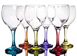 Multi Colored Party Stemmed Wine Glasses, Small, 8 oz, Set of 6 Review