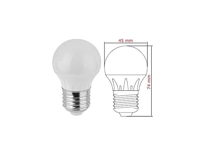 Lampada mini sfera led e w luce calda k lumen angolo
