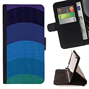 Jordan Colourful Shop - teal blue lines minimalist calm For Apple Iphone 5C - Leather Case Absorci???¡¯???€????€?????????&
