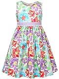 Bonny Billy Little Girls Halloween Flowers Summer Dress Kids 2-6x Purple