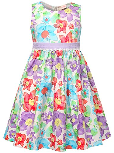 - Bonny Billy Toddlers Baby Girl's School Floral Cotton Dress 2-3t Purple