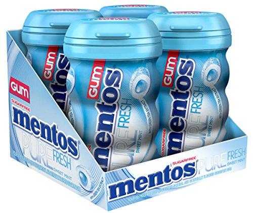 Mentos Gum Sugar Free, Pure Fresh Sweet Mint, 50 Piece (Pack Of 4)