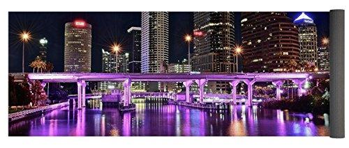 Pixels Yoga Mat w/ Bag ''A Tampa Night'' by Pixels