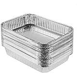 XIAFEI Grills Compatible Drip Pans, Aluminum Foil BBQ Grease Pans, Bulk Package, 30 Pack