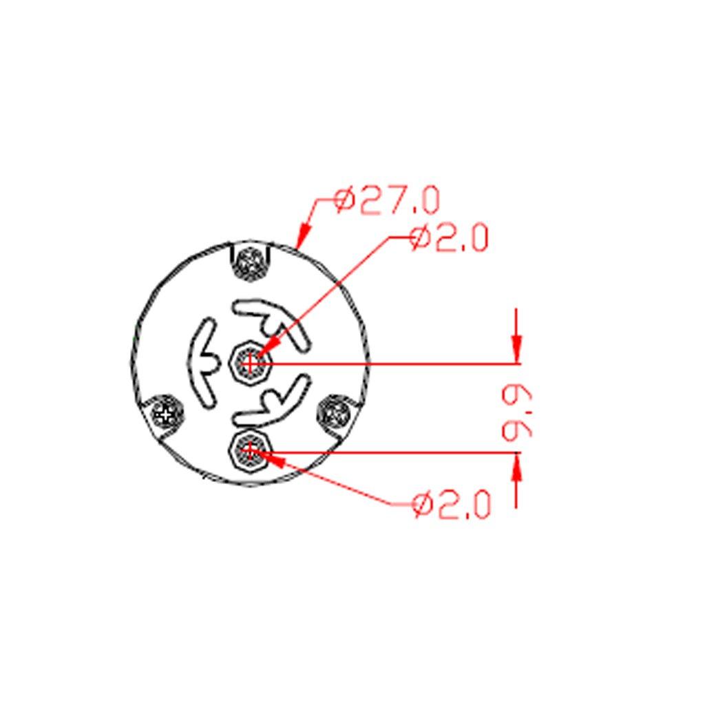 perfk 2pcs 12V Haute Pression Mini Pompe /à Air,Pompe /à Eau,Pompe Auto-Amor/çante en Aluminium