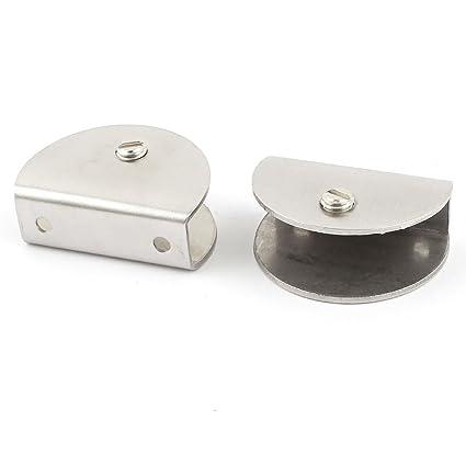 12mm-15mm Grosor de perfil semicircular estantería de vidrio soporte para 2 piezas Bricolaje y herramientas Ferretería