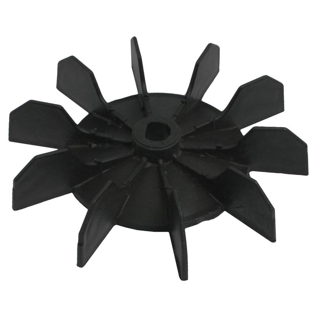Sonline Replacement 0.5'' Inner Bore 10 Impeller Air Compressor Motor Fan Blade Black