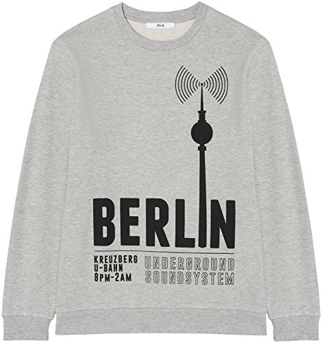 Print Berlin Marl grey Gris 001 Homme Find shirt Sweat wf5CCTq