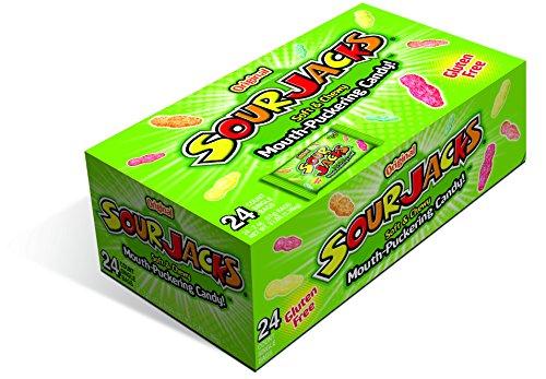 SOUR JACKS Sour Candies Original, 24 count, 2 Ounce each -