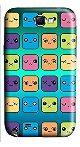 Samsung Note 2 Case Icon Skins 3D Custom Samsung Note 2 Case Cover