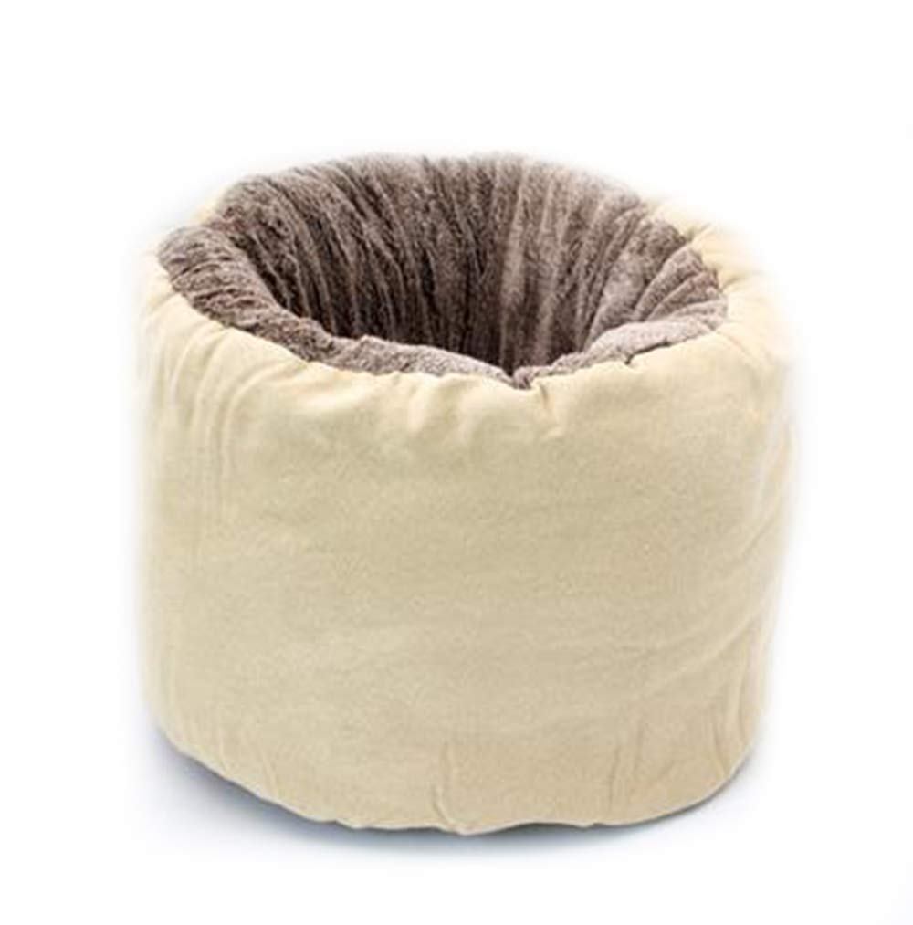 Beige 45cm45cm40cm Beige 45cm45cm40cm Plush Cat Bed, Warm, Cozy and Durable Cat Bed, Suitable for Large Cats and Kittens(45cm45cm40cm,Beige)