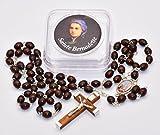 Saint Bernadette Rosary Beads From Lourdes with Lourdes Prayer Card.