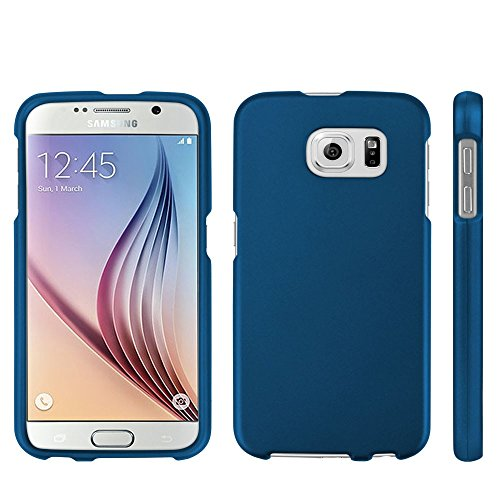 Protective Case for Galaxy S6 Slim Two Piece Snap On Case Hard Plastic Rubberize Feel Dark Blue
