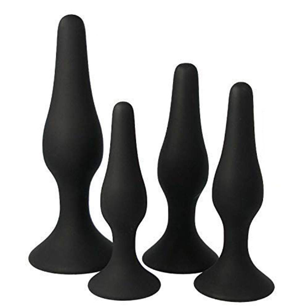 XYSH 4 Different Sizes Silicone Exercise Tools for Men and Women - Black Silicone