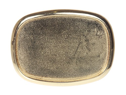 Plain Oval Belt Buckle Color: Gold
