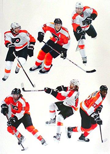 FATHEAD Philadelphia Flyers Mini Team Set of NHL Vinyl Wall Graphics - 6 Player Graphics, 8