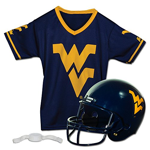 Franklin Sports NCAA West Virginia Helmet and Jersey Set