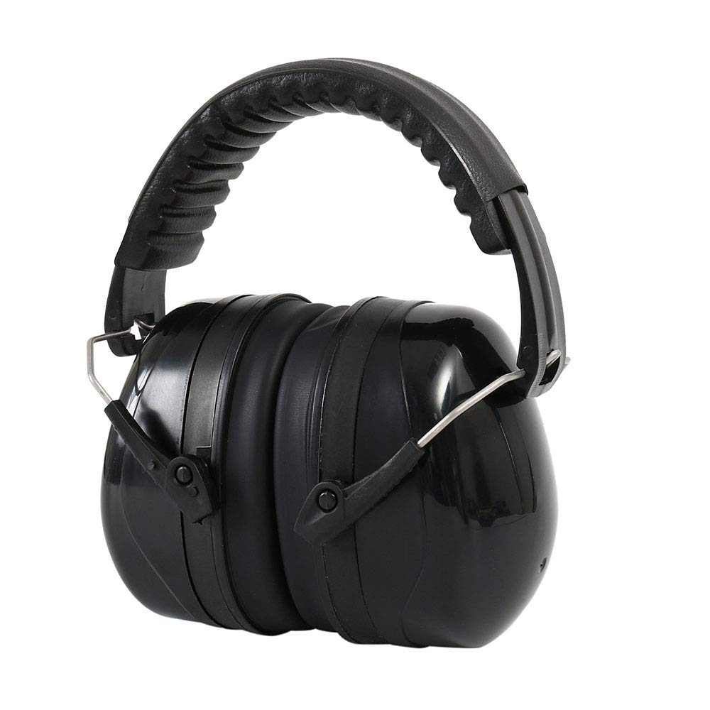 Flowerssea Ear Defenders,Fits Adults and Kids, 34dB SNR Comfortable Safety Ear Muffs Hearing Protector with Folding-Padded Head Band for Shooting, Construction, Reading or Yard Work (black)
