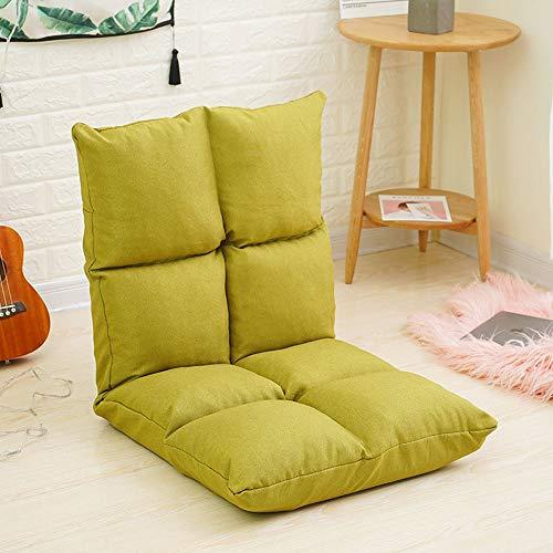 H.W. Lazy Sofa Tatami habitación Individual sofá pequeño balcón Silla Plegable Silla Perezosa sofá de Piso (Color : Green)