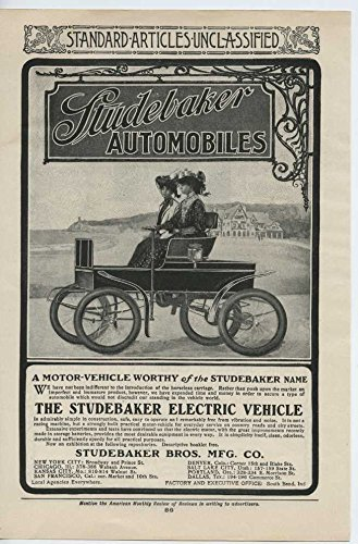 1903 Studebaker Motor Car South Bend IN Auto Ad Stein Bloch Co