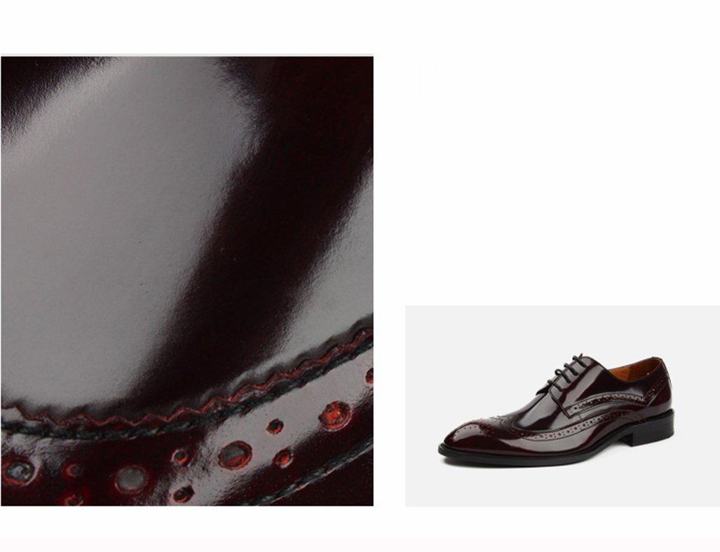 Herren Lederschuhe Herrenschuhe Herrenschuhe Herrenschuhe Britischen Stil Business Formal Wear Leder Spitze Breathable Single Schuhe wies Herrenschuhe ( Farbe   Weinrot , größe   EU37 UK4-4.5 ) a5eb07