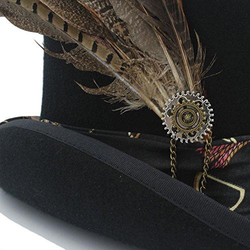 Tamaño Foa 1 61cm Con Steampunk Sombrero color Rueda 2 De Mujer Chenyuying Engranaje 5ZBqwxvWn