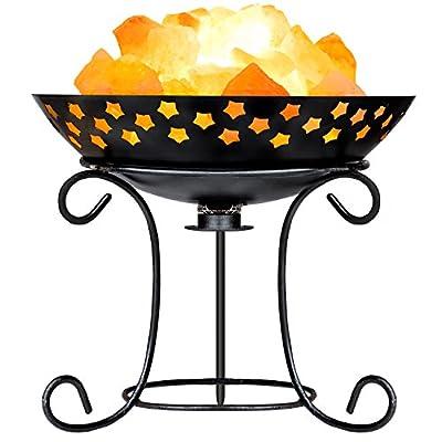 mockins Himalayan Iron Basket Salt Lamp With Plate and Salt Chunks - Holiday Gift …