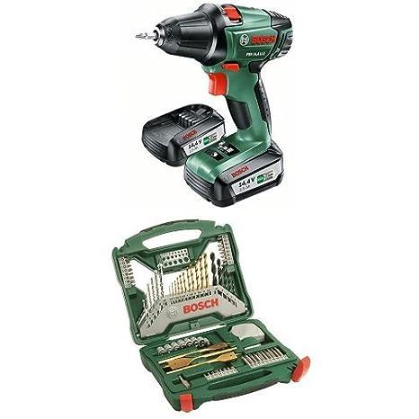 2 batteries Pack duo Perceuse-visseuse Expert Bosch et laser en croix Quigo 3
