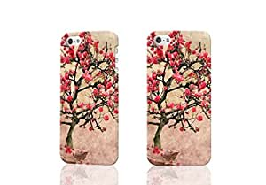 Blooming Apple Tree 3D Rough iphone 4 4S Case Skin, fashion design image custom iPhone 4 4S , durable iphone 4 4S hard 3D case cover for iphone 4 4S, Case New Design By Codystore